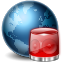 128x128px size png icon of Earth Alert