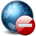 128x128px size png icon of Earth Stop