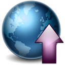 128x128px size png icon of Earth Upload