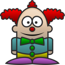 128x128px size png icon of Clown