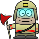 128x128px size png icon of Firefighter
