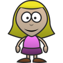 128x128px size png icon of Girl