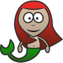 128x128px size png icon of Mermaid