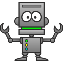 128x128px size png icon of Robot