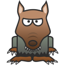 128x128px size png icon of Werewolf