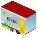 128x128px size png icon of Circus trailer