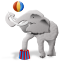 128x128px size png icon of Elephant