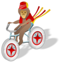 128x128px size png icon of Monkey bicycle