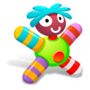 128x128px size png icon of Colored Green Doll