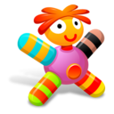 128x128px size png icon of Colored Pink Doll
