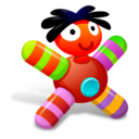 128x128px size png icon of Colored Red Doll