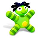 128x128px size png icon of Green Doll
