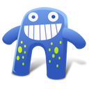 128x128px size png icon of Creature Blue