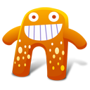 128x128px size png icon of Creature Orange