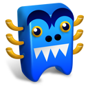 128x128px size png icon of Blue creature