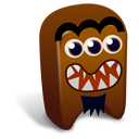 128x128px size png icon of Brown creature