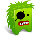 128x128px size png icon of Green creature