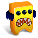 128x128px size png icon of Orange creature