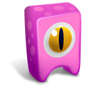 128x128px size png icon of Pink creature