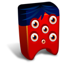 128x128px size png icon of Red creature