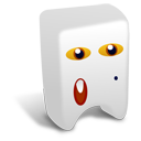 128x128px size png icon of White creature
