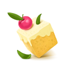 128x128px size png icon of Box 03 Cake Cherry