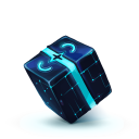 128x128px size png icon of Box 13 Blue