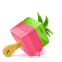 128x128px size png icon of Box 19 Ice Cream Strawberry