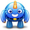 blue monster Icon