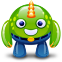 128x128px size png icon of green monster