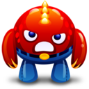 128x128px size png icon of red monster angry