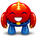 128x128px size png icon of red monster happy
