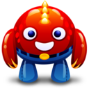 128x128px size png icon of red monster