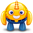 128x128px size png icon of yellow monster