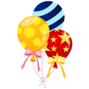 128x128px size png icon of balloons