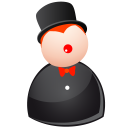 128x128px size png icon of black magic man
