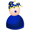 128x128px size png icon of harlequin blue