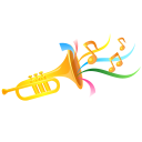 128x128px size png icon of trumpet