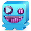 128x128px size png icon of monster blue