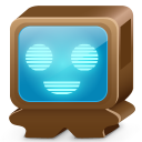 128x128px size png icon of monster brown