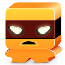 128x128px size png icon of monster orange