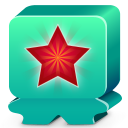 128x128px size png icon of monster turquoise