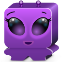 128x128px size png icon of monster violet