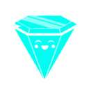 128x128px size png icon of Rave Diamond blue