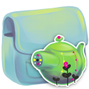 128x128px size png icon of Folder Kettle