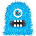 128x128px size png icon of Blue Monster