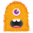 128x128px size png icon of Orange Monster