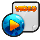 128x128px size png icon of File Video