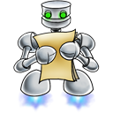 128x128px size png icon of robot documents