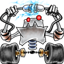 128x128px size png icon of robot network